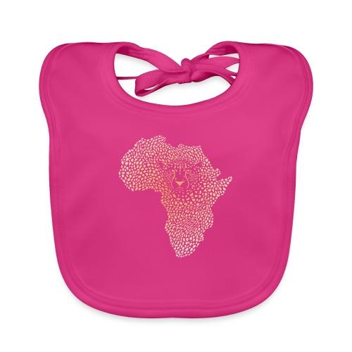 Symbol Afrika in der Gepardtarnung - Baby Bio-Lätzchen