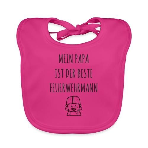 Papa Feuerwehrmann Baby lustig Shirt Geschenk - Baby Bio-Lätzchen