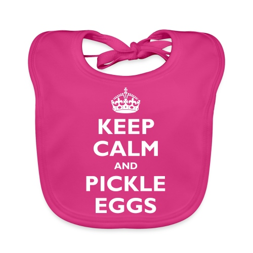keep calm and pickle eggs - Baby Organic Bib