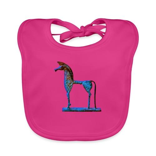 Le cheval grec - Bavoir bio Bébé
