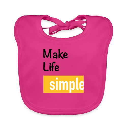 Make Life Simple - Bavoir bio Bébé