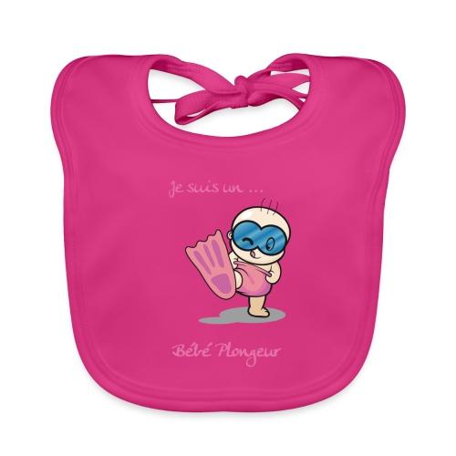 je suis un bebe plongeur rose - Bavoir bio Bébé