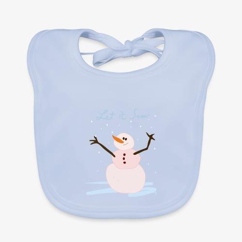 snowman let it snow - Baby Organic Bib