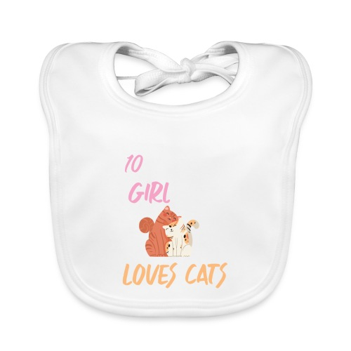 I'm just a 10 year old girl who loves cats - Bavoir bio Bébé