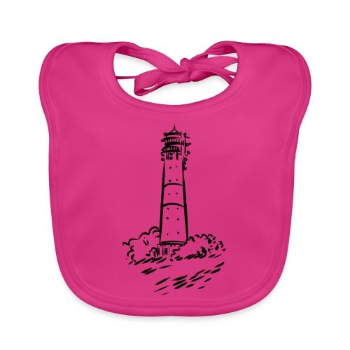 Leuchtturm Hörnum Sylt Art Design - Baby Bio-Lätzchen