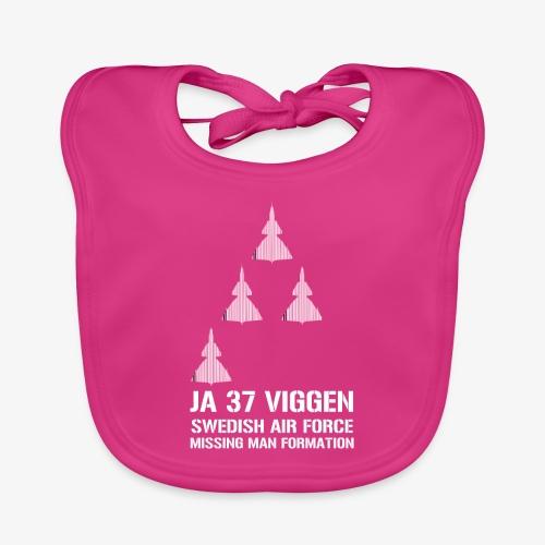JA 37 Viggen - Missing Man Formation - Ekologisk babyhaklapp
