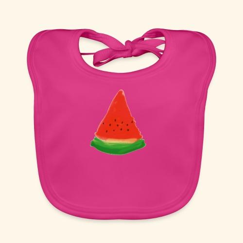 Vattenmelon - Ekologisk babyhaklapp
