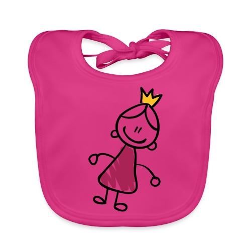 Princess Line Drawing Pixellamb - Baby Bio-Lätzchen
