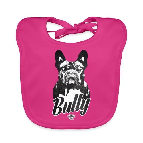 Bully - Französische Bulldogge Silhouette - Baby Bio-Lätzchen