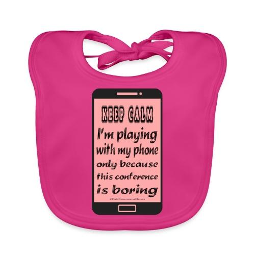 pink phone keep calm - Bavaglino ecologico per neonato