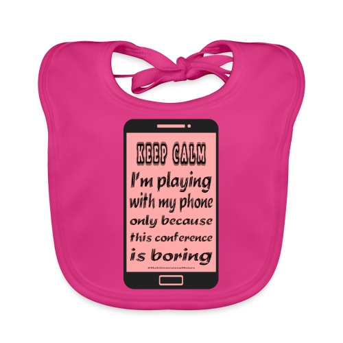 pink phone keep calm - Bavaglino