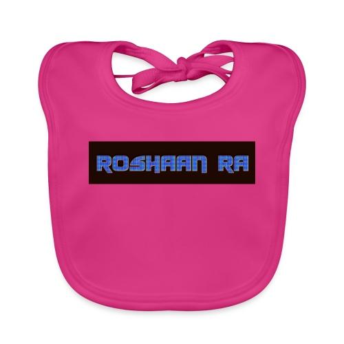 Blue RoshaanRa Logo Kids Merch - Baby Organic Bib