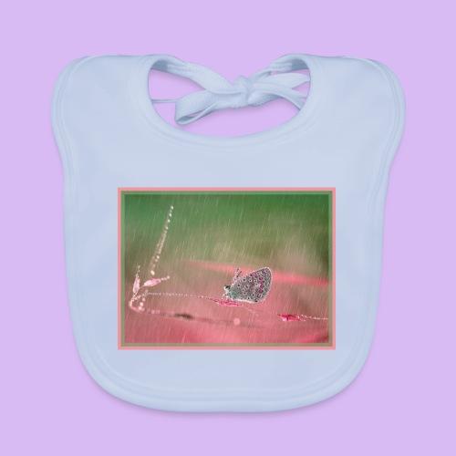 Farfalla nella pioggia leggera - Bavaglino ecologico per neonato