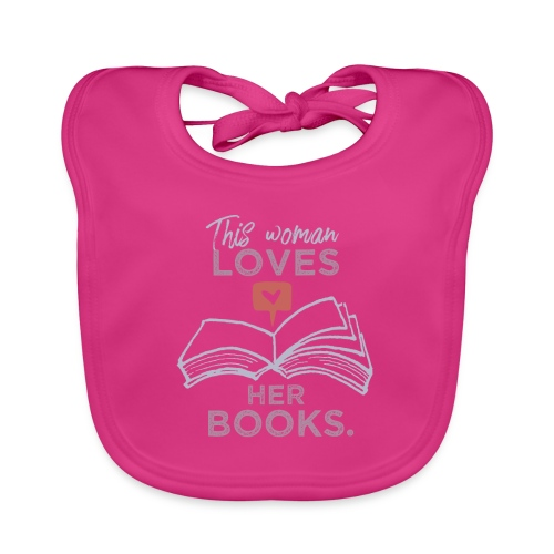 0218 Frau | Bücher | Liebe | Leserin | Bloggerin - Baby Organic Bib