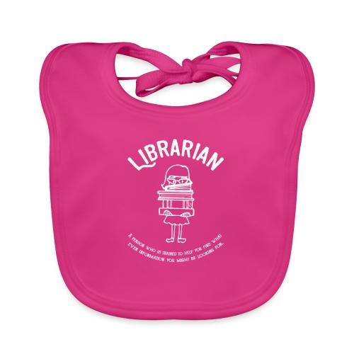0331 Librarian Funny saying Cool text - Baby Organic Bib