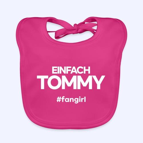 Einfach Tommy / #fangirl / White Font - Baby Bio-Lätzchen
