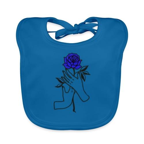 Fiore blu - Bavaglino ecologico per neonato