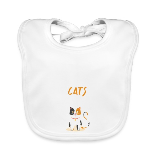 Eat sleep warrior cats repeat - Bavoir bio Bébé