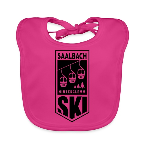 SKI embleem Saalbach - Bio-slabbetje voor baby's