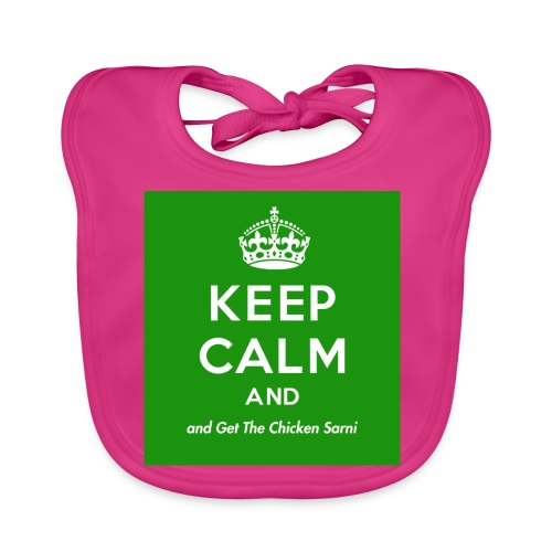 Keep Calm and Get The Chicken Sarni - Green - Organic Baby Bibs