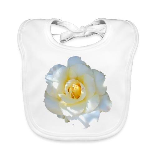 A white rose - Organic Baby Bibs