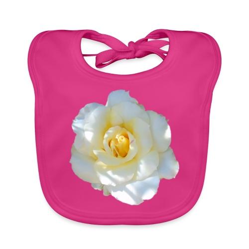 A white rose - Baby Organic Bib