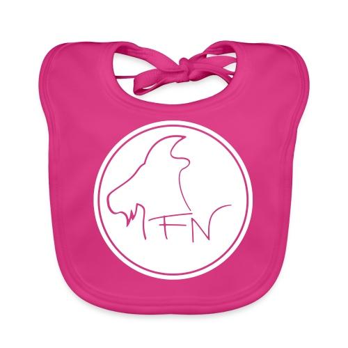 FN-Logo Weiss - Baby Bio-Lätzchen