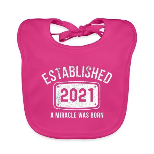 Etablerad 2021 Ett Mirakel Barn Föddes Det Året - Ekologisk babyhaklapp