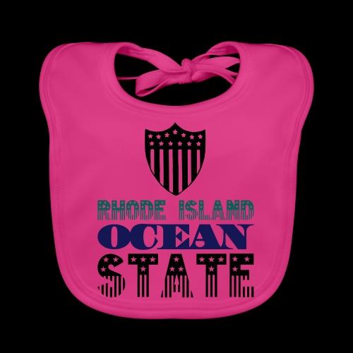 rhode island ocean state - Baby Organic Bib