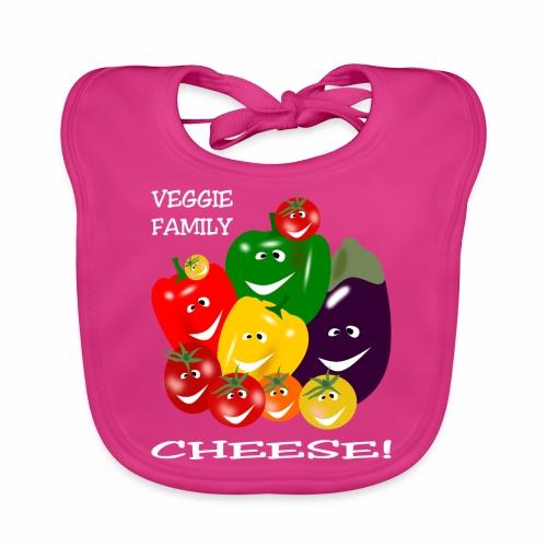 Veggie Family - Cheese! - Baby Organic Bib