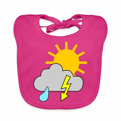 Sun - rain - thunderstorm - Baby Organic Bib