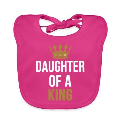Daughter of a King Vater Tochter partnerlook - Baby Bio-Lätzchen
