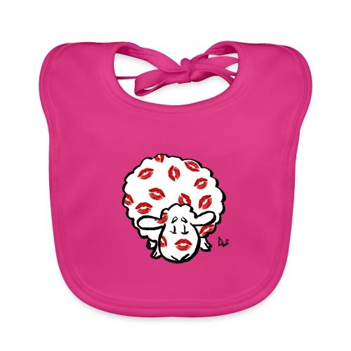 Beso oveja - Babero de algodón orgánico para bebés