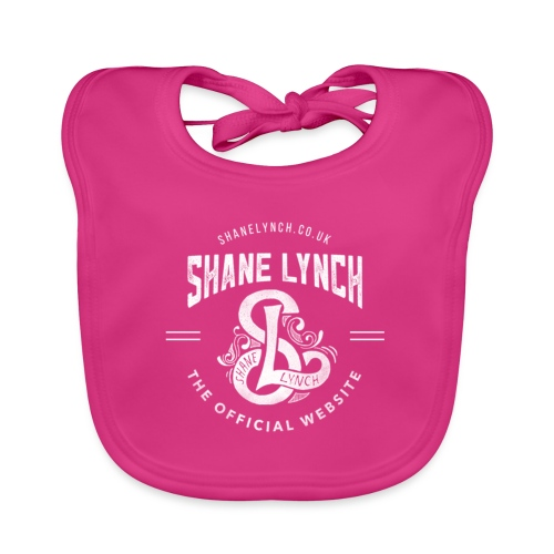 White - Shane Lynch Logo - Organic Baby Bibs