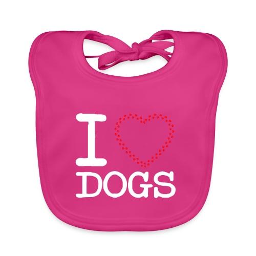 I Love Dogs - Baby Bio-Lätzchen