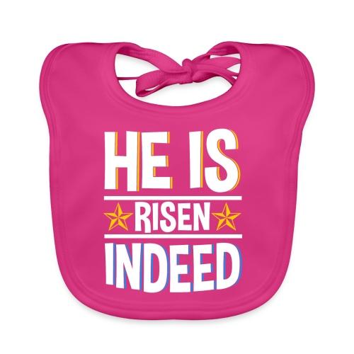 He is risen indeed - Ostern - Baby Bio-Lätzchen