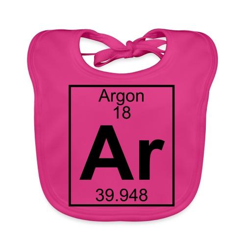 Argon (Ar) (element 18) - Baby Organic Bib
