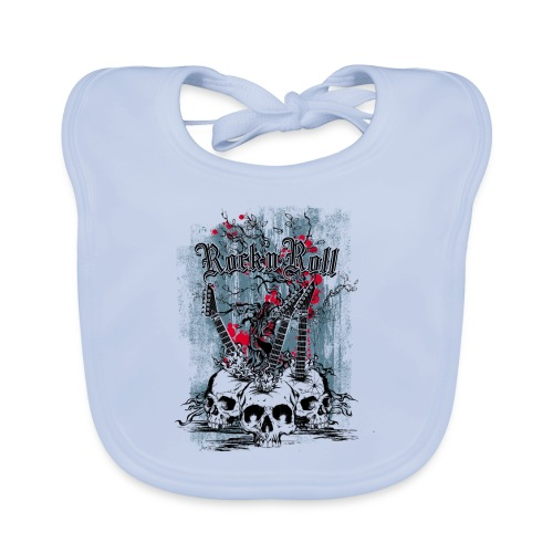 rock n roll skulls - Bio-slabbetje voor baby's