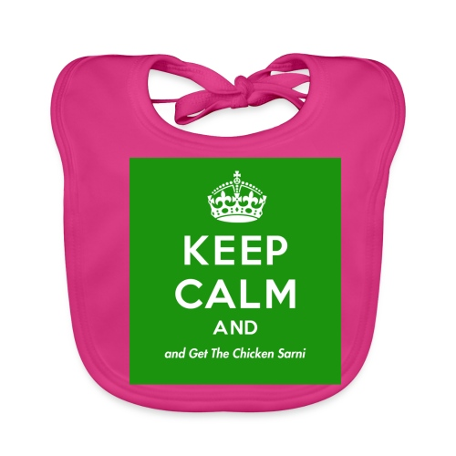 Keep Calm and Get The Chicken Sarni - Green - Baby Organic Bib