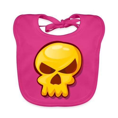 Golden Skull - Babero de algodón orgánico para bebés