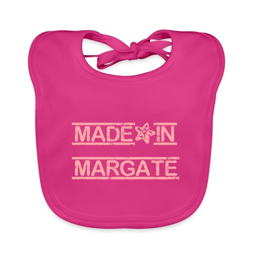 Made in Margate - Pink - Baby Organic Bib