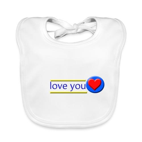love you - Baby Organic Bib