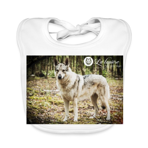 La Tanière des chiens-loups - Bavoir bio Bébé