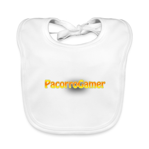 PacorroGamer logotipo de f - Babero ecológico bebé