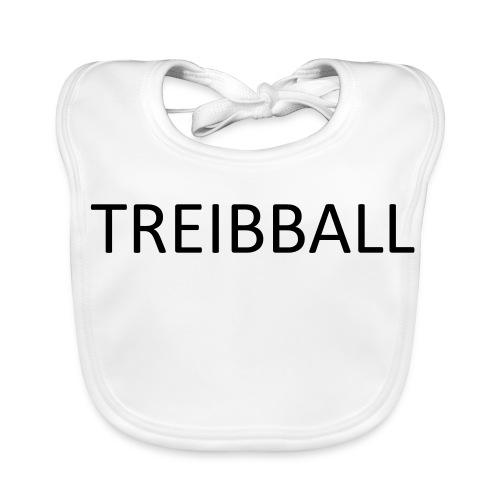Treibball-Schlüsselband mit orangem Schriftzug - Baby Bio-Lätzchen