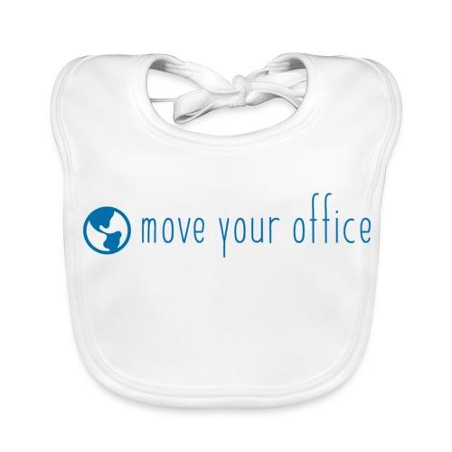 Das offizielle move your office Logo-Shirt - Baby Bio-Lätzchen