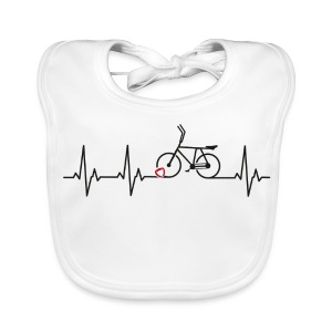 Radball | Heart Monitor Black - Baby Bio-Lätzchen