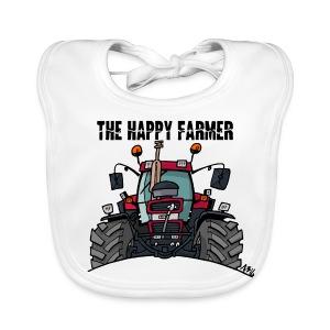 the happy farmer red - Bio-slabbetje voor baby's