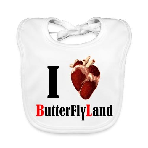 I love Butterflyland - Bavoir bio Bébé