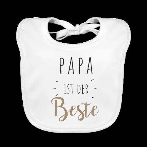 Papa ist der beste - Baby Bio-Lätzchen